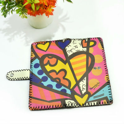 Valentine Gift Wallet - Wholesale Hand Painted Heart Wallet In Bulk