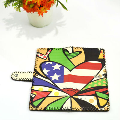 US Leather Wallet Painted Leather Wallet America Leather Wallet