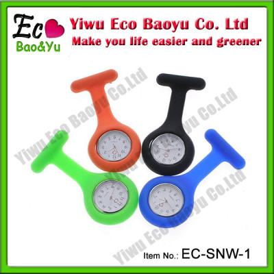 Assorted Color Silicone Fob Watch