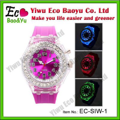 Luxury Crystal Silicone Watch