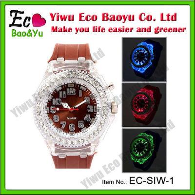 Cute Shining Silicone Led Watch