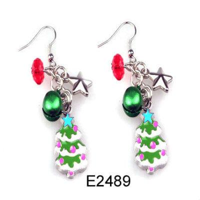 Custom Design Christmas Bell Earring / Christmas Tree Earring / Chirstmas Jewelry