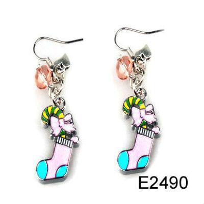 Custom Design Christmas Earring / Christmas Sock Earring / Chirstmas Jewelry Decoration