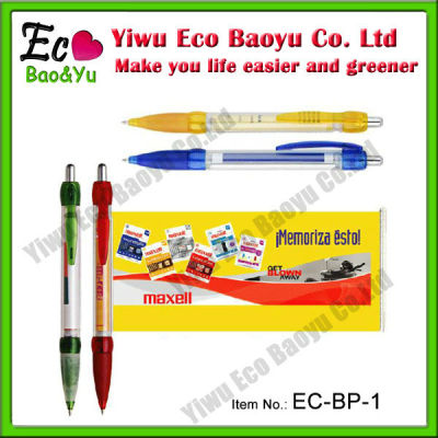Cheap But High Quality Promotional Banner Pen