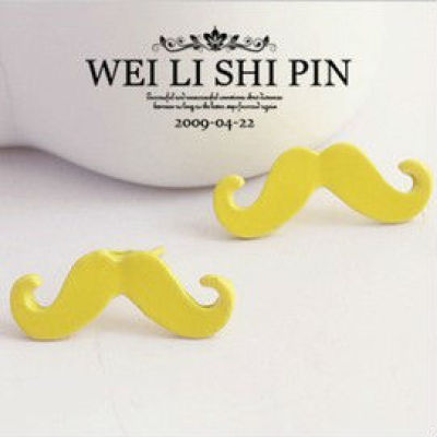 Wholesale Neon Mustache Earring In Bulk