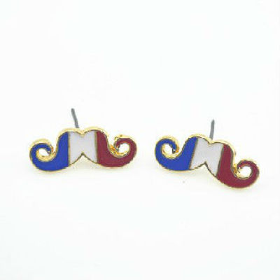 Italy Flag Mustache Accessories Mustache Jewelry Mustache Earring - Retro Vintage Style