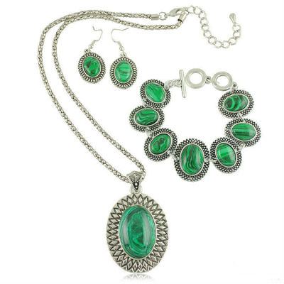 Statement Big Gem Stone Jewelry Set