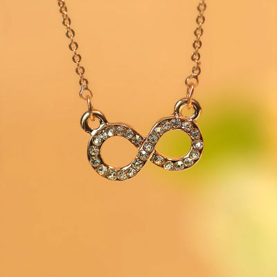 Happy Valentine's Day - Crystal Forever Love Gift Infinity Charm Necklace Pendant Jewelry