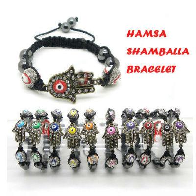 Shamballa Crystal Ball Hamsa Hand Bracelet Wholesale