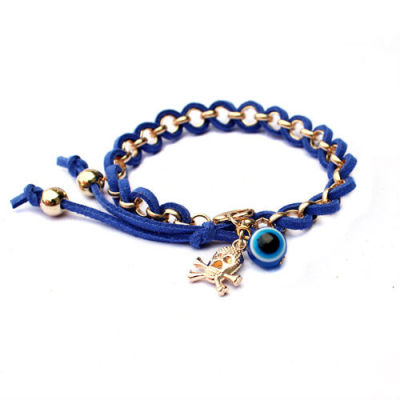 Adjustable Evil Eye Wrap Bracelet Evil Eye Pendant Jewelry Wholesale