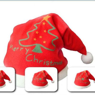 PLUSH CHRISMAS TREE Printed Christmas Hats