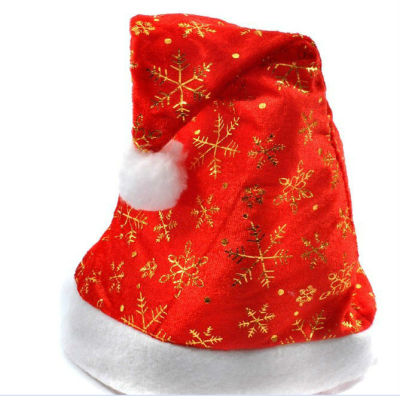 Snowflake, Moon and Star Red Santa Hats / Christmas Hat for Adults