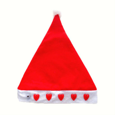 Cheap Light Up Christmas Hat for Adults with Heart Shape Light Decoration