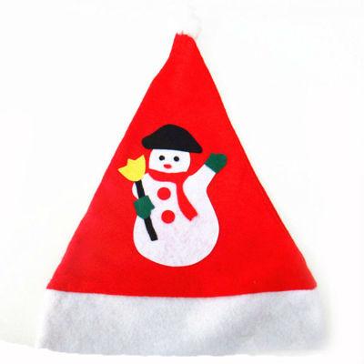 Wholsale Snowman Christmas Hats / Applique Christmas Hat For Kids