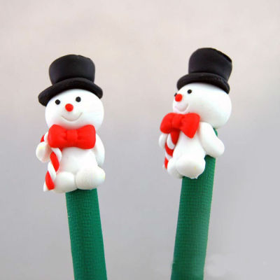 Snowman Christmas Gift Pen Polymer Clay Pen (LOGO printing is available)