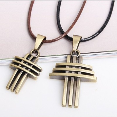 Valentines Day Gift Cross Necklace Jewelry - with god love