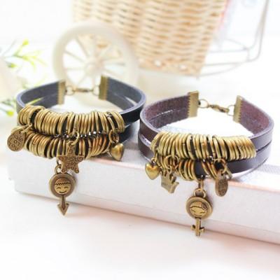2014 wholesale fashion bracelet Leather Bracelet Jewelry - Valentines Day Gift