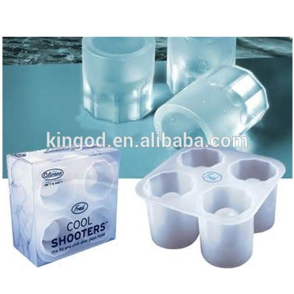 Wholesale FDA/LFGB Silicone Shot Glass Tray