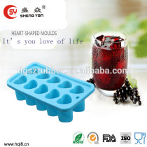 eco-friendly love shaped silicone Ice mould for summer use