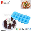flexible silicone cute love shape ice tray
