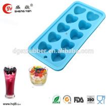 heart shape food grade silicone ice tray with FDA LFGB standard