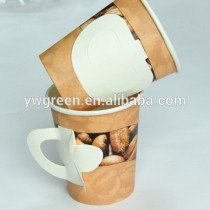 coffee cups with handle/handle paper cup