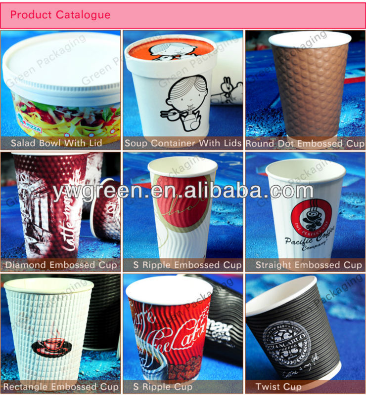 Handle hot coffee paper cup