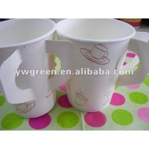8 oz disposable coffee paper cup with handle