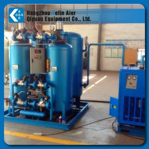 Oxygen gas generator plant with cylinder filing system