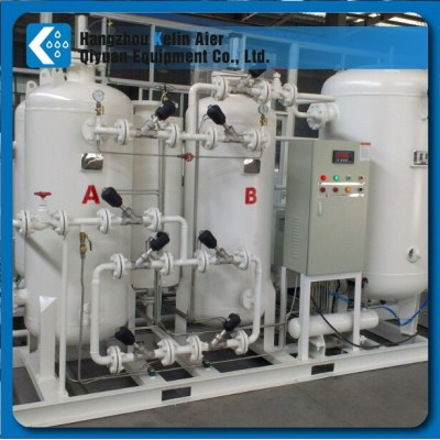 oxygen plant factory with compressed air filter