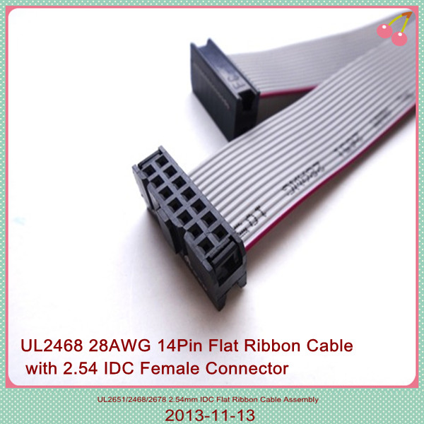 Computer Ribbon Cable : Pin flat cable wire harness awg ribbon
