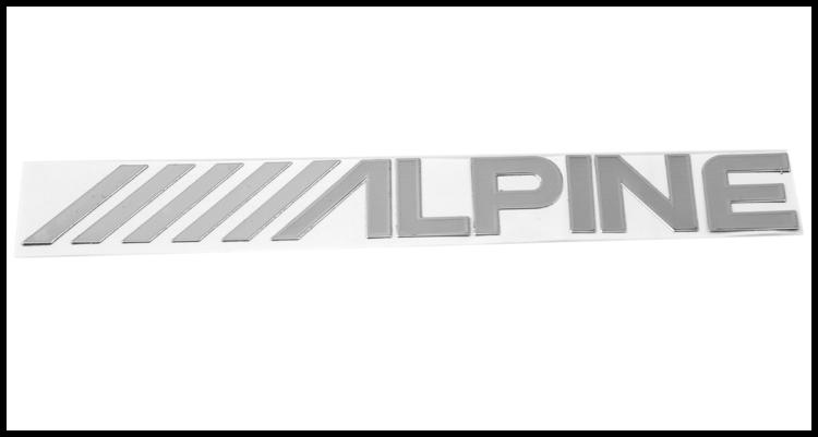 alpine m tal autoaufkleber p te fine auto autocollants stickers autocollant voiture b nickel. Black Bedroom Furniture Sets. Home Design Ideas