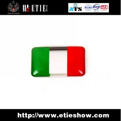 The Italian flag miniature Aluminum adhesive logo Car sticker,China car sticker design Supplier ...