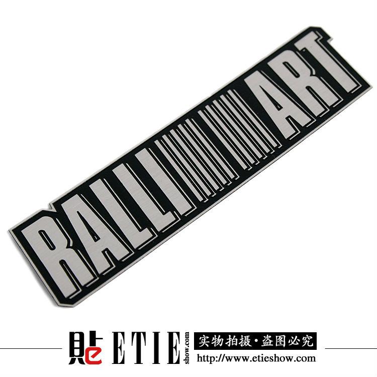 Ralliart Stainless Steel Thin Metal Sticker 3d Car Logo