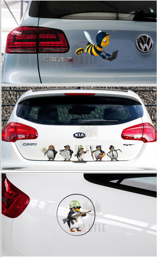 Mm adesivi per auto cartone animato ape sentiero