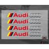 Audi Logo Car Sticker Set  PVC  Sticker  Printing Sticker Design Doorknob