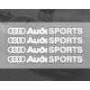 Audi Sports Car Sticker Set  PVC  Sticker  Printing Sticker Design Doorknob