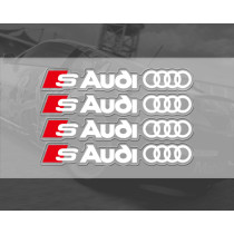 Audi S Car Sticker Set  PVC  Sticker  Printing Sticker Design Doorknob