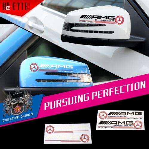 Amg auto mirror body pvc car sticker adhesive crystal for Sticker miroir adhesif