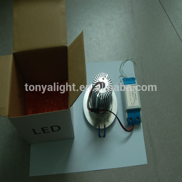COB LED downlight 80mm cutout CE ROHS surface mounted gimbal led down lights