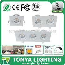 shenzhen factory LED Cree COB Downlight 15w CE ROHS led lux down light flat 24w