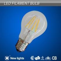 led filament bulb light A60 8W 800lm E27/E26/B22