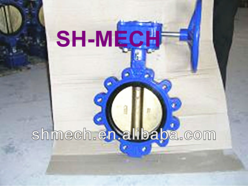 Good Price high quality BS5155 Butterfly valve with pin