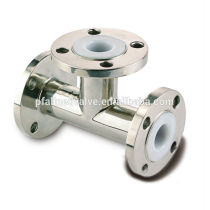 Taiwan Anit Corrosive with High Chemical Resistance Carbon Steel PFA Lined Equal Tee Fitting