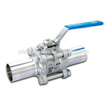 Taiwan High Quality Stainless steel Welding Cap Type BA EP Polish Clean Sanitary Ball Valve