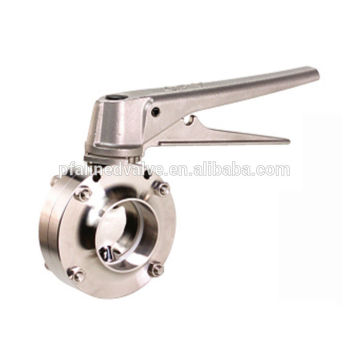 Taiwan Butt Weld ISO 2037 BS 4825 AS 1528-1 Stainless steel Clean Hygienic Sanitary Butterfly valve