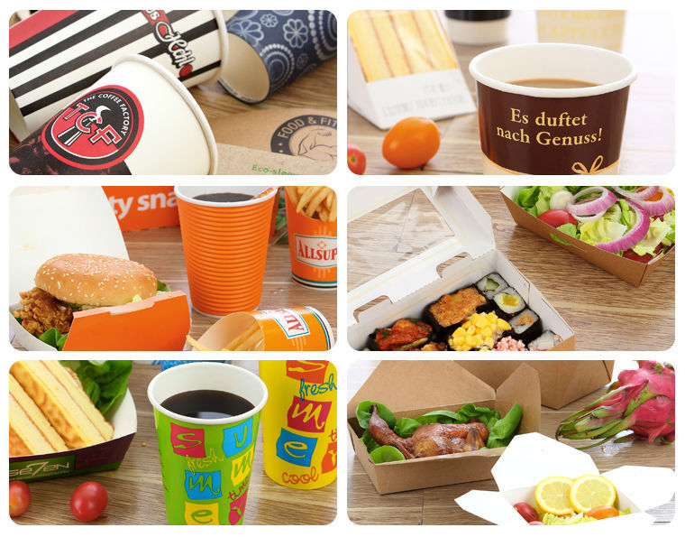 Colorful printed single wall paper cups for hot beverage