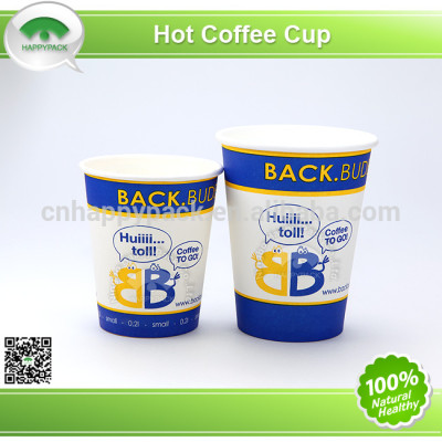 Disposable colorful printed single wall paper cups for hot beverage