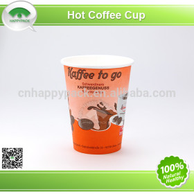 Good quality single wall paper cups for hot beverage