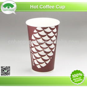 2014New design 16oz single wall paper cup with lid